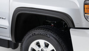 Bushwacker - 40965-02 - FENDER FLARES OE STYLE 4PC 2015-2018 GMC SIERRA 2500 HD, 3500 78.8/97.6in BED, FACTORY MUDFLAPS MUST BE REMOVED BLACK