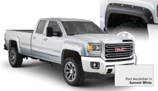 Bushwacker - 40967-14 - FF POCKET STYLE-COLOR 4PC 2015-2018 GMC SIERRA 2500/3500 78.8/97.6in BED SUMMIT WHITE