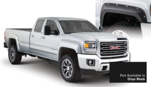 Bushwacker - 40967-34 - FF POCKET STYLE-COLOR 4PC 2015-2018 GMC SIERRA 2500/3500 78.8/97.6in BED ONYX BLACK