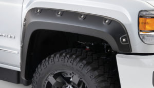 Bushwacker - 40968-02 - FF BOSS POCKET STYLE 4PC 2015-2018 GMC SIERRA 2500 HD, 3500 78.8/97.6in BED, FACTORY MUDFLAPS MUST BE REMOVED BLACK