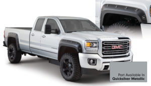 Bushwacker - 40968-54 - GMC Boss Pocket Style Fender Flare - Set of 4 - Quicksilver Metallic