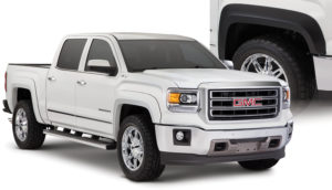 Bushwacker - 40975-02 - FF EXTEND-A-FENDER STYLE 4PC 2016-2018 GMC SIERRA 1500 FACTORY MUDFLAPS MUST BE REMOVED BLACK