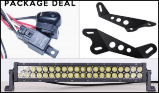 JK 20 Inch Hood Mount Package Dual Row Lifetime LED Lights