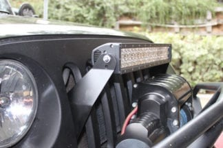 JK 21.5 Inch Grill Mount Package Dual RowLifetime LED Lights